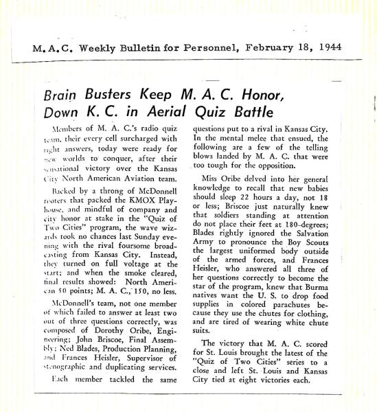 1944 February 18 - MAC Bulletin for Personnel