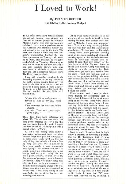 1969 Spring - Article - Echoes From the Woods - William Woods College Pg 10