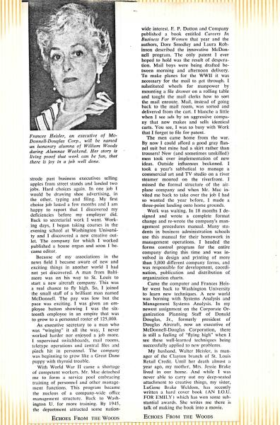 1969 Spring - Article - Echoes From the Woods - William Woods College Pg 10 - 11