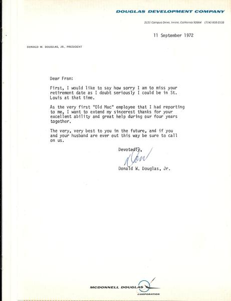 1972 September 11 - Letter of thanks and best wishes